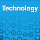 Achtergrond van technologie de Blauwe Toestellen Stock Afbeelding