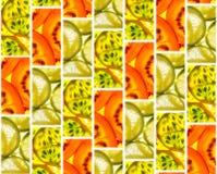 Achtergrond van tegels van fruitplakken Royalty-vrije Stock Foto's