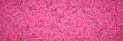 Achtergrond van tulpenbloemblaadjes 8 maart De dag van de valentijnskaart `s Romantische achtergrond voor uw ontwerp Vector illus Royalty-vrije Stock Afbeelding