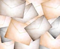 Achtergrond van uitstekende envelop royalty-vrije illustratie