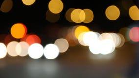 Achtergrond van verkeer bij nacht stock footage