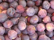 Achtergrond van vers violet fig. Stock Fotografie