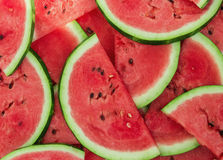 Achtergrond van verse rijpe watermeloenplakken royalty-vrije stock foto's