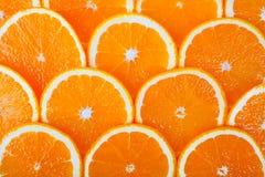 Achtergrond van verse sinaasappel Stock Fotografie