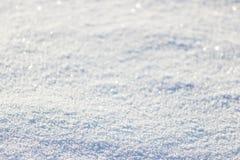 Achtergrond van verse sneeuw Stock Afbeeldingen