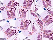 Vijf honderd euro achtergrond Stock Afbeeldingen