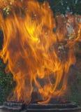 Achtergrond van vlam Stock Afbeeldingen