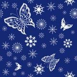 Achtergrond van vlinders het vliegen Royalty-vrije Stock Afbeelding