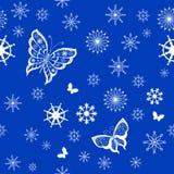 Achtergrond van vlinders het vliegen Royalty-vrije Stock Afbeeldingen