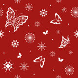 Achtergrond van vlinders het vliegen Stock Afbeeldingen