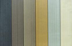 Achtergrond van waterdichte raad van diverse kleuren stock fotografie