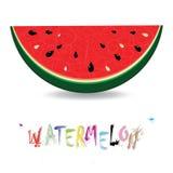 Achtergrond van watermeloen de verse plakken. Rood zoet sappatroon Royalty-vrije Stock Fotografie