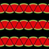 Achtergrond van watermeloen Vector illustratie Royalty-vrije Stock Foto