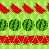 Achtergrond van watermeloen Vector illustratie Royalty-vrije Stock Fotografie