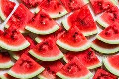 Achtergrond van watermeloenplakken stock foto