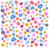 Achtergrond van waterverfbloemen Royalty-vrije Stock Foto
