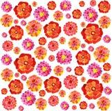 Achtergrond van waterverfbloemen stock illustratie