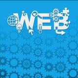 Achtergrond van Web de Blauwe Toestellen Royalty-vrije Stock Foto