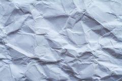 Achtergrond van wit verfrommeld gebroken document, selectieve nadruk, plaats voor tekst stock foto