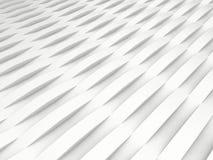 Achtergrond van witte 3d abstracte golven Stock Afbeelding