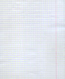 Achtergrond van witte geregelde document pagina Stock Afbeelding