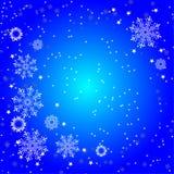 Achtergrond van witte sneeuwvlokken stock illustratie