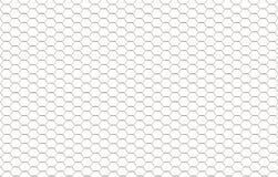 Achtergrond van witte zeshoeken. Stock Foto