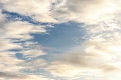 Achtergrond van wolk in de hemel Royalty-vrije Stock Afbeeldingen