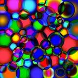 Achtergrond van zeepbels royalty-vrije illustratie