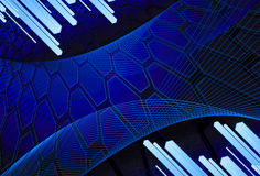 Achtergrond van zeshoeken met diagonale staven Stock Fotografie