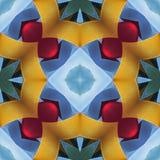 Achtergrond van zijde de kleurrijke linten voor plakboek, Collage met spiegelbezinning Naadloos patroon Royalty-vrije Stock Afbeeldingen