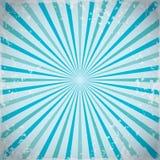 Achtergrond van zonnestraal retro stralen in blauw Vector illustratie royalty-vrije illustratie