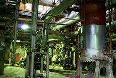 Achtergrond van zware industrie chemische installatie Stock Foto
