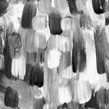 Achtergrond van zwart-witte kwaststreken royalty-vrije illustratie