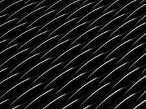 Achtergrond van zwarte 3d abstracte golven Stock Foto's