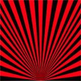 Achtergrond van zwarte en rode stralen royalty-vrije illustratie