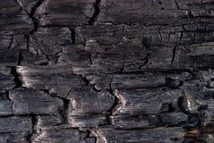 Achtergrond - verkoold hout royalty-vrije stock fotografie