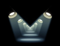 Achtergrond verlichting op een zwarte achtergrond vector illustratie