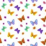 Achtergrond, vlinders en bloemen Royalty-vrije Stock Foto's