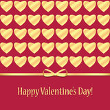 Achtergrond voor de dag van de valentijnskaart Stock Afbeelding
