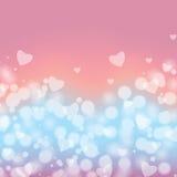 Achtergrond voor de dag van de valentijnskaart Royalty-vrije Stock Afbeeldingen