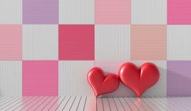 Achtergrond voor de dag van de Valentijnskaart Stock Fotografie