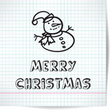 Achtergrond voor een Kerstmisthema met sneeuwman in de stijl Royalty-vrije Stock Fotografie