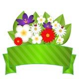 Achtergrond voor een ontwerp met mooie bloemen Stock Fotografie