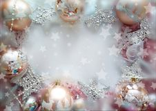Achtergrond voor gelukwensen gelukkig nieuw jaar en vrolijke chrisrmas stock afbeelding