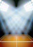 Achtergrond voor het tennisstadion van de affichesnacht in Stock Foto