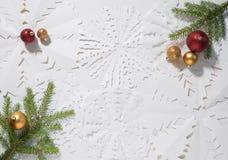 Achtergrond voor Kerstmis en Nieuwjaarvieringen royalty-vrije stock fotografie