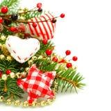 Achtergrond voor Kerstmis of Nieuwjaar Stock Foto's