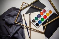 Achtergrond voor kunstenaars Stock Afbeelding
