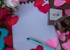 Achtergrond voor liefdenota's Royalty-vrije Stock Foto